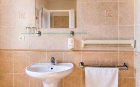 Fotografie koupelny v apartmánu Penzionu Régio v Kyjově